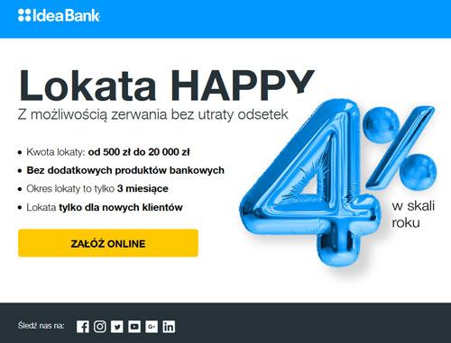 lokata happy w Idea Banku