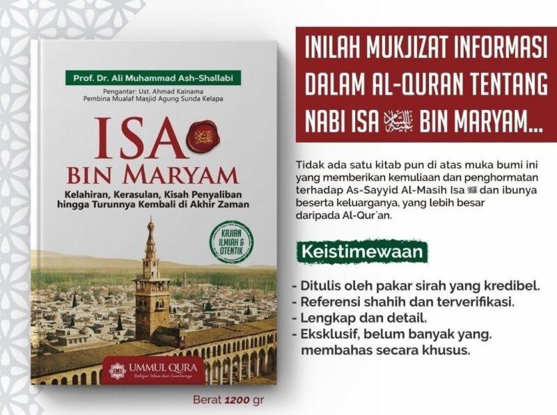 Buku Isa bin Maryam Prof Ali Ash Shallabi Penerbit Ummul Qura