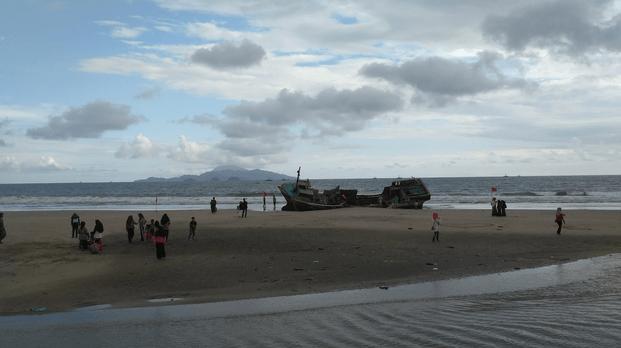 Panorama dari Pantai Kedu Yang Sangat Indah