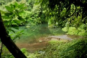 Danau Biru curug Cibeureum