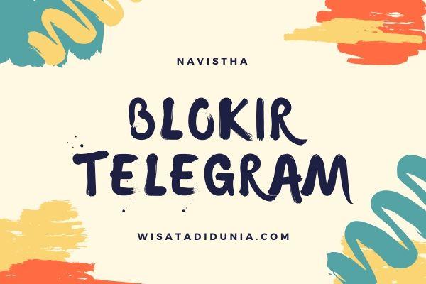 cara blokir telegram
