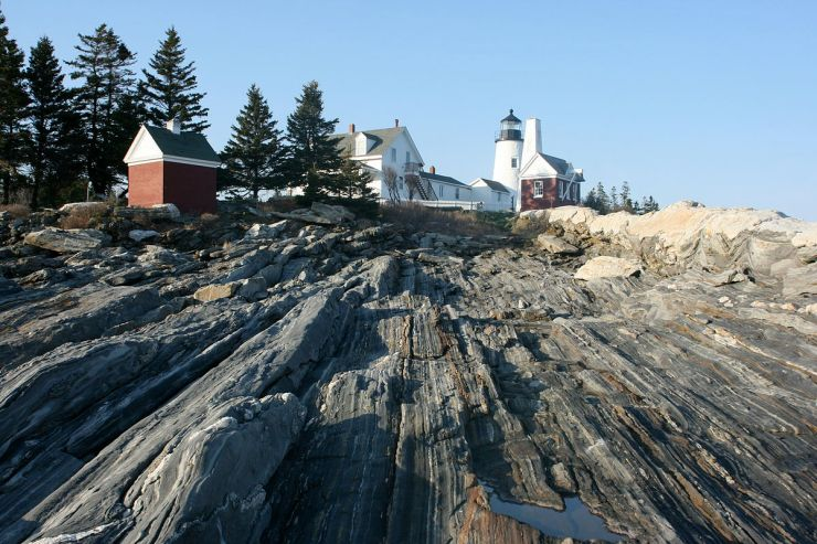 Pemaquid Point Lighthouse is one of the few you can go into. It has dramatic rocks down to the ocean. Located 31 miles away from Wiscasset Woods Lodge