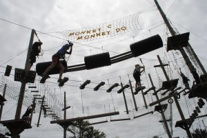 Challenge course fun for the whole family in Midcoast Maine