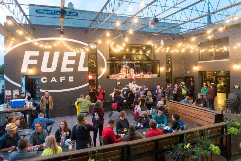 People polka at Fuel Cafe after Polish Moon Ride