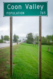 Coon Valley population sign 765