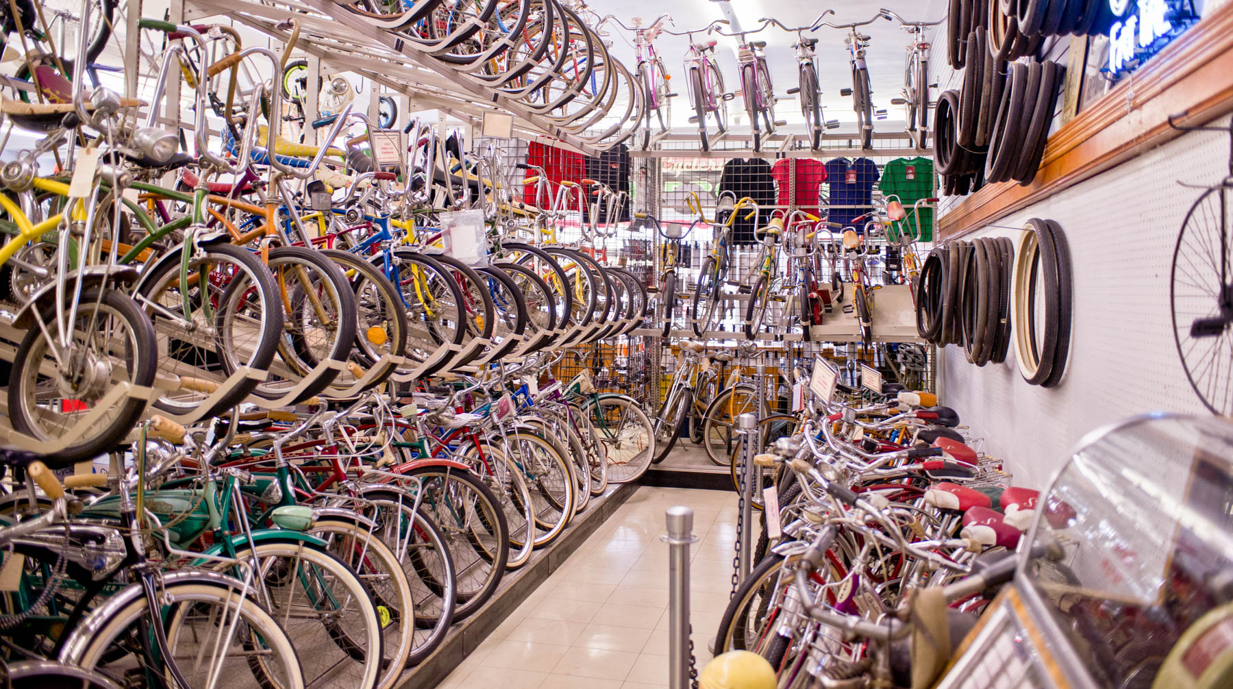 The Milwaukee Bicycle Museum section of  South Shore Cyclery.