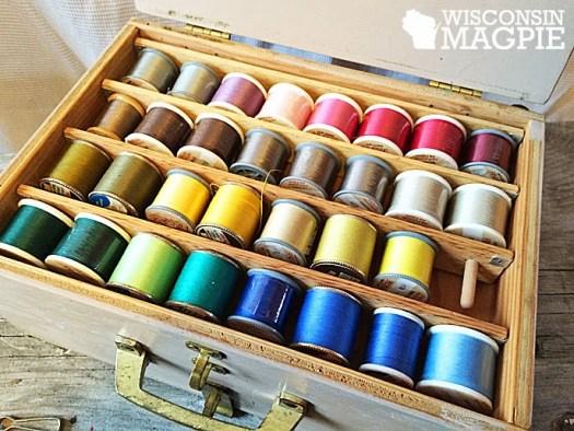 vintage sewing storage