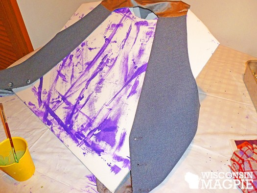 painting the vest