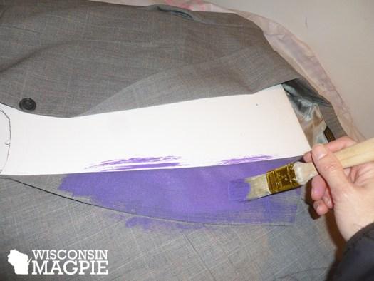 painting a suit purple