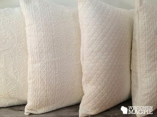 bedspread envelope pillows