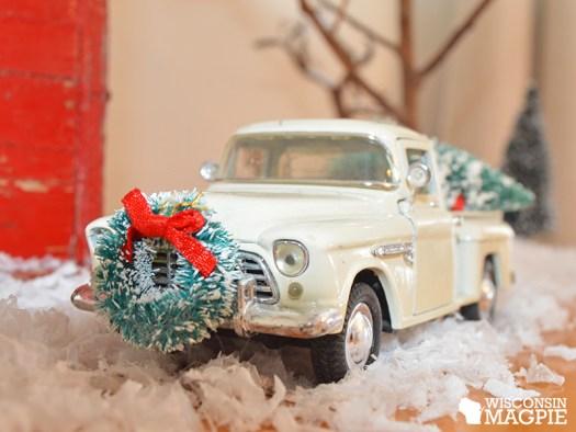 miniature winter scene