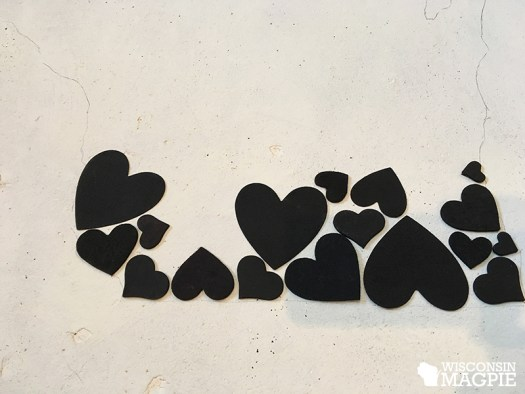 crafting with hearts