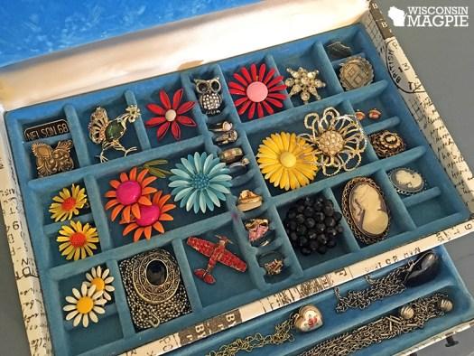 jewelry box blue velvet interior