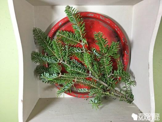 making a Christmas display