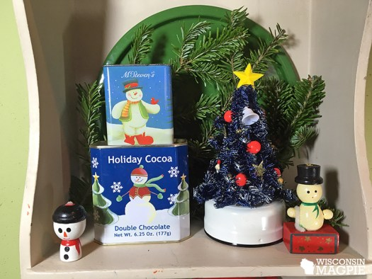 snowmen and tree