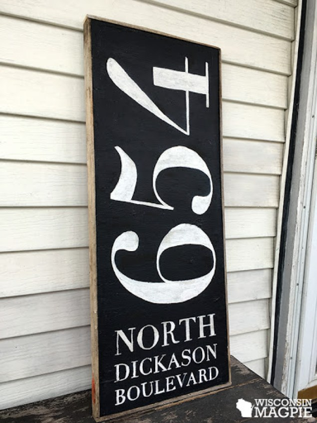chalk-painted sign