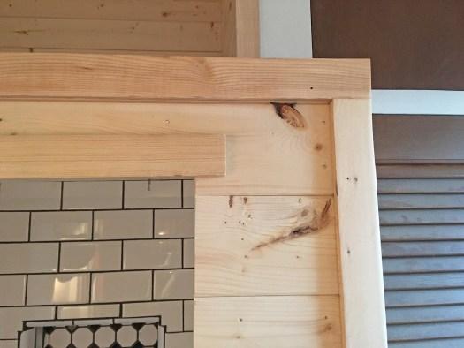 trim around edges of pine planks