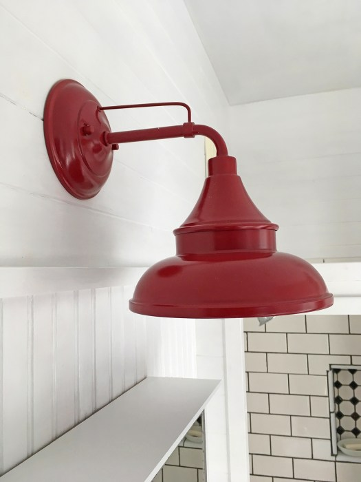 red barn light from Home Depot