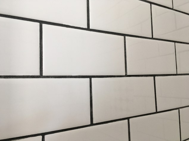 subway tile with grout