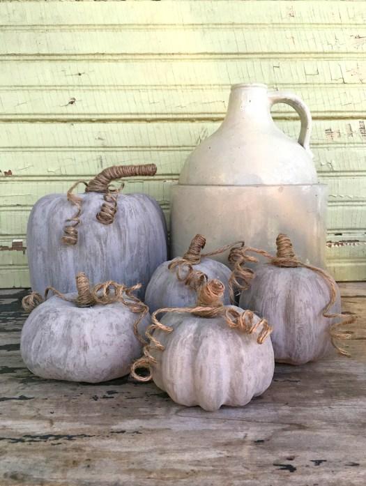 Easy DIY Concrete Pumpkins by Wisconsin Magpie
