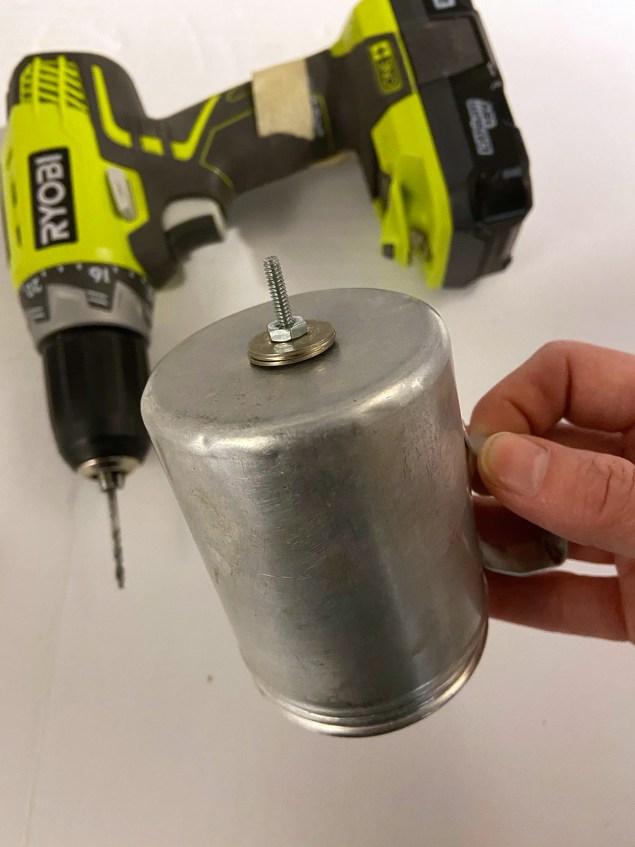 salt shaker rabbit body with bolt poking through it