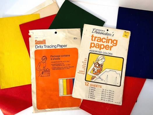 Vintage Dressmaker's and Dritz Tracing Paper in assorted colors