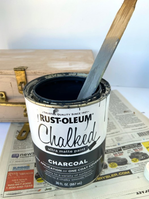 Rust-Oleum Chalked paint in Charcoal