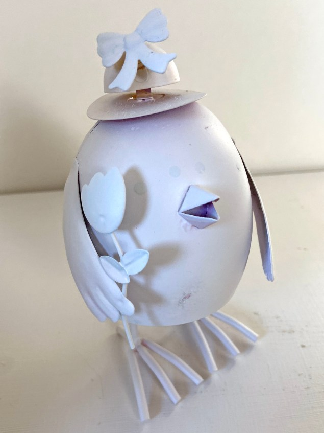 Easter chick painted white