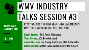 WMV Industry Talks Session #3 @ Online (Via Zoom)