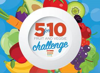 5 for 10 Fruit and Veggie Challenge