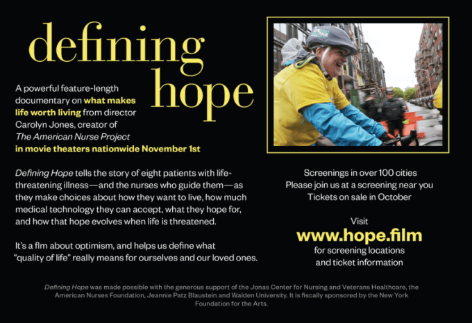 Defining Hope Half-Page Ad