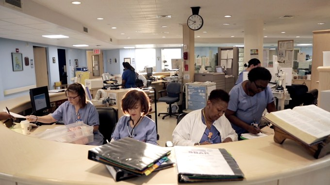Nurses' Station at Calvary Hospital
