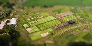 Aerial photo of OJ Noer Turfgrass Research and Education Facility