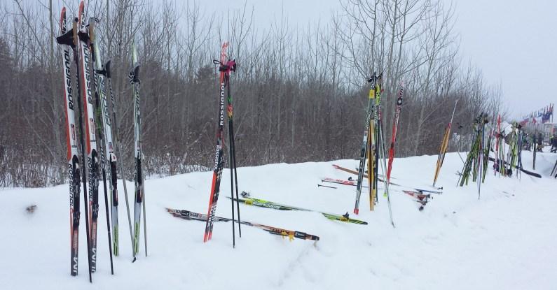 Birkie Pre Race Ski Storage
