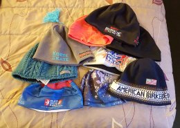 I may have brought too many hat choices.