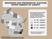 Click for full-size map of voter turnout by county for election 2008