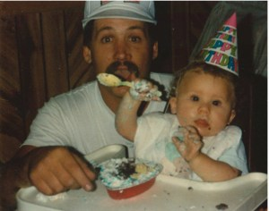 Douglas Meyers, pictured with oldest son Chaisen on his first birthday, always thought of others before himself, helping people whenever possible, says his widow, Traci. Douglas Meyers, who died on a rural road in October, was one of 18 traffic fatalities in Marinette County in 2009 as the county traffic death toll tied an all-time record.  Photo courtesy of Traci Meyers