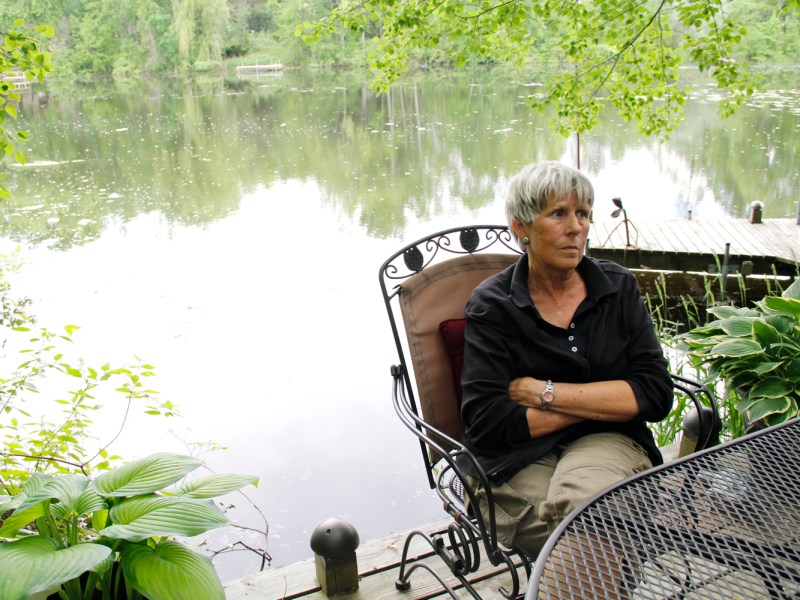 """Plover resident Barb Gifford lives along the Little Plover River and started the Friends of the Little Plover group in 2005, when sections of the river first dried up. """"€œYou can't live on a body of water every day and not know when something was wrong,""""€ she says."""