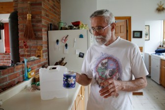 """Lincoln resident Mick Sagrillo wasn't drinking his well water anyway when he learned that it had """"the honor"""" of being the county's most estrogenic, in a research study. Sagrillo's well water has had high nitrates or bacteria for more than a decade; this spring, for the first time, a test found the fecal bacteria E. coli."""