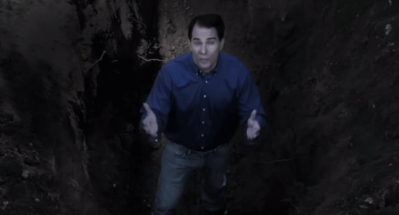 Scott Walker in a screenshot from a negative Burke campaign ad.