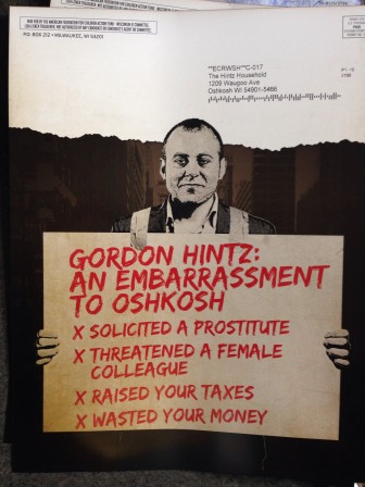 One of several AFC flyers targeting Rep. Gordon Hintz.