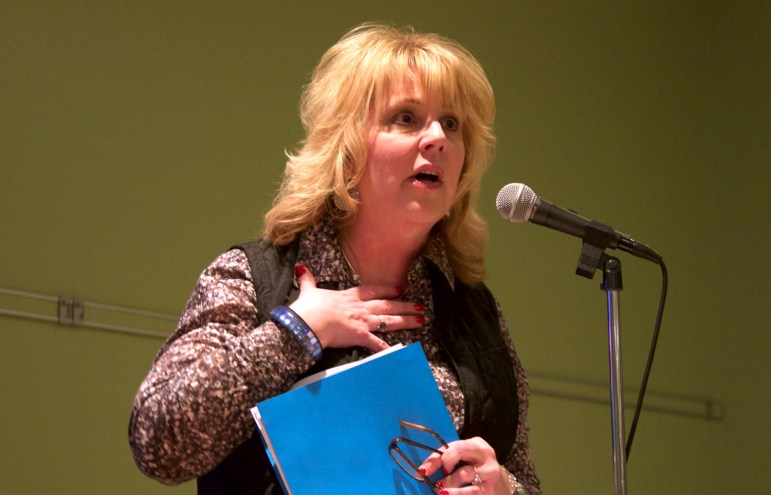 """Wisconsin Department of Natural Resources Secretary Cathy Stepp, seen here in a 2015 file photo, has announced  the state will begin subsidizing the cost of replacing lead service lines in """"disadvantaged"""" Wisconsin communities."""