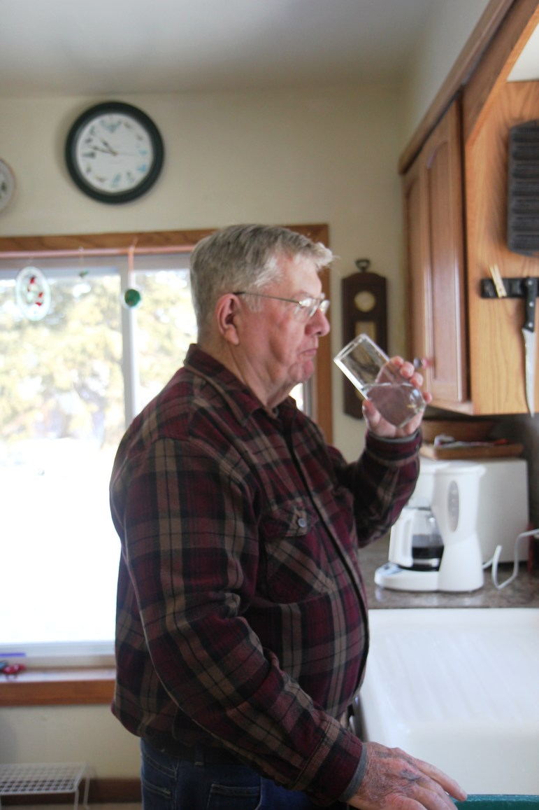 Pat Laughrin, a member of the Calumet County Board, says water at his home used to have elevated levels of arsenic caused by a drop in the water table after installation of nearby high-capacity wells. But water levels have returned to normal after a neighboring farm owner reduced pumping, he said, and the most recent tests show no arsenic. Certain activities, such as drawdown, can increase the presence of the natural contaminant, scientists say.