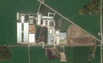 A view of Pagel's Ponderosa Dairy in Kewaunee County, as seen from Google Earth. Owner John Pagel is a member of the Kewaunee County Board and head of the county's Land and Conservation Committee. Pagel has acknowledged that large dairy operations such as his can contribute to groundwater pollution but said industry can lead the way toward a solution.