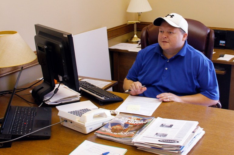 Rep. Scott Krug, R-Nekoosa, photographed in his office in the Wisconsin state Capitol in Madison, Wis. Krug says it would be Òpolitical suicideÓ to ignore public concerns over water quality and quantity in the 72nd Assembly District.