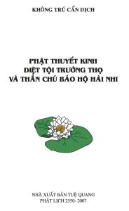 Phật Thuyết Kinh Diệt Tội Trường Thọ và Thần Chú Bảo Hộ Hài Nhi