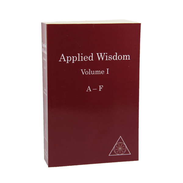 Applied Wisdom, Volume I (A-F) by Lucille Cedercrans