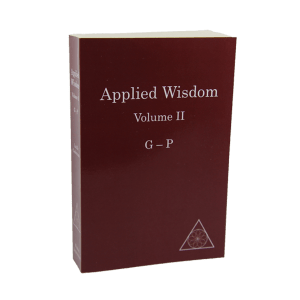 Applied Wisdom, Volumne II (G-P) by Lucille Cedercrans