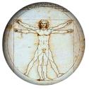 a key to global education: Vitruvian Man by Leonardo da Vinci