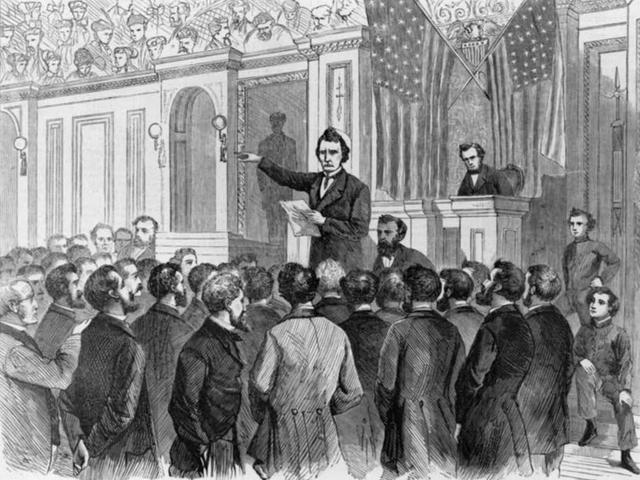 digital history of Reconstruction | Congressional Moderation